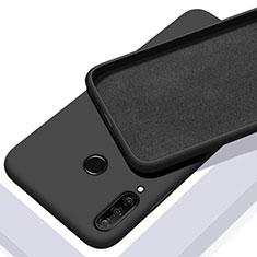 Huawei Nova 4e用360度 フルカバー極薄ソフトケース シリコンケース 耐衝撃 全面保護 バンパー C02 ファーウェイ ブラック