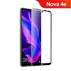 Huawei Nova 4e用強化ガラス フル液晶保護フィルム ファーウェイ ブラック