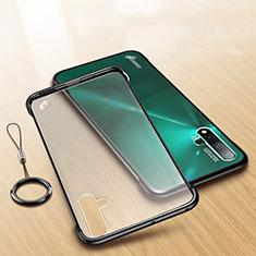 Huawei Nova 5用極薄ケース クリア透明 プラスチック 質感もマットU01 ファーウェイ ブラック