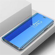 Huawei Nova 5用手帳型 レザーケース スタンド 鏡面 カバー L02 ファーウェイ ネイビー