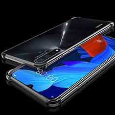 Huawei Nova 5用極薄ソフトケース シリコンケース 耐衝撃 全面保護 クリア透明 H01 ファーウェイ ブラック