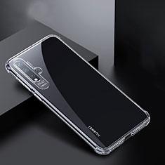 Huawei Nova 5 Pro用極薄ソフトケース シリコンケース 耐衝撃 全面保護 クリア透明 K01 ファーウェイ クリア