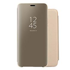 Huawei Nova 5 Pro用手帳型 レザーケース スタンド 鏡面 カバー ファーウェイ ゴールド