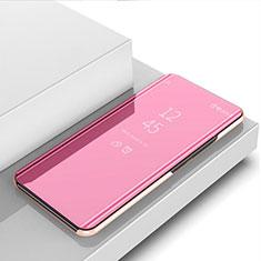 Huawei Nova 5i用手帳型 レザーケース スタンド 鏡面 カバー M03 ファーウェイ ローズゴールド