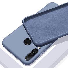 Huawei Nova 5i用360度 フルカバー極薄ソフトケース シリコンケース 耐衝撃 全面保護 バンパー ファーウェイ ブルー