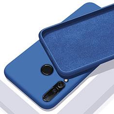 Huawei Nova 5i用360度 フルカバー極薄ソフトケース シリコンケース 耐衝撃 全面保護 バンパー ファーウェイ ネイビー