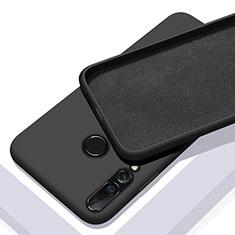 Huawei Nova 5i用360度 フルカバー極薄ソフトケース シリコンケース 耐衝撃 全面保護 バンパー ファーウェイ ブラック