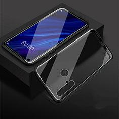 Huawei Nova 5i用ケース 高級感 手触り良い アルミメタル 製の金属製 360度 フルカバーバンパー 鏡面 カバー ファーウェイ ブラック