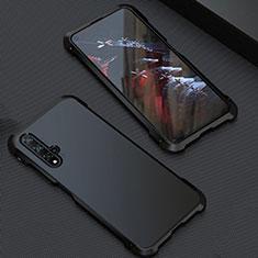 Huawei Nova 5T用ケース 高級感 手触り良い アルミメタル 製の金属製 カバー T05 ファーウェイ ブラック