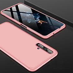 Huawei Nova 5T用ハードケース プラスチック 質感もマット 前面と背面 360度 フルカバー P01 ファーウェイ ローズゴールド