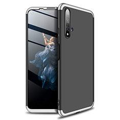 Huawei Nova 5T用ハードケース プラスチック 質感もマット 前面と背面 360度 フルカバー P02 ファーウェイ シルバー