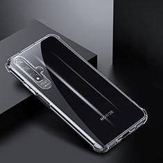 Huawei Nova 5T用極薄ソフトケース シリコンケース 耐衝撃 全面保護 クリア透明 K03 ファーウェイ クリア
