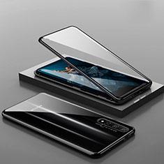 Huawei Nova 5T用ケース 高級感 手触り良い アルミメタル 製の金属製 360度 フルカバーバンパー 鏡面 カバー T10 ファーウェイ ブラック