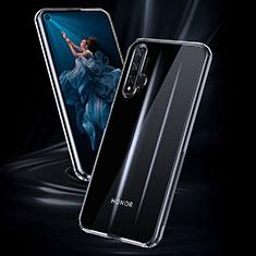Huawei Nova 5T用極薄ソフトケース シリコンケース 耐衝撃 全面保護 クリア透明 K02 ファーウェイ クリア