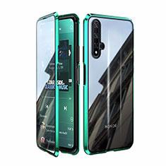 Huawei Nova 5T用ケース 高級感 手触り良い アルミメタル 製の金属製 360度 フルカバーバンパー 鏡面 カバー T08 ファーウェイ グリーン