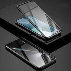 Huawei Nova 6 5G用ケース 高級感 手触り良い アルミメタル 製の金属製 360度 フルカバーバンパー 鏡面 カバー Z01 ファーウェイ ブラック