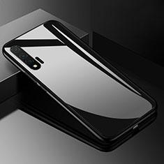 Huawei Nova 6 5G用ハイブリットバンパーケース プラスチック 鏡面 カバー ファーウェイ ブラック