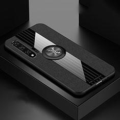 Huawei Nova 6 5G用360度 フルカバー極薄ソフトケース シリコンケース 耐衝撃 全面保護 バンパー ファーウェイ ブラック