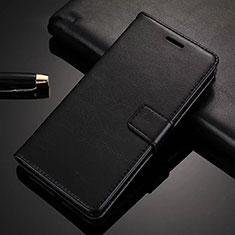 Huawei Nova 6 5G用手帳型 レザーケース スタンド カバー ファーウェイ ブラック