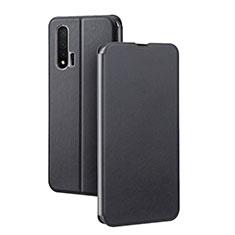 Huawei Nova 6 5G用手帳型 レザーケース スタンド カバー L01 ファーウェイ ブラック