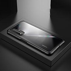 Huawei Nova 6 5G用ハイブリットバンパーケース プラスチック 兼シリコーン カバー Z01 ファーウェイ ブラック
