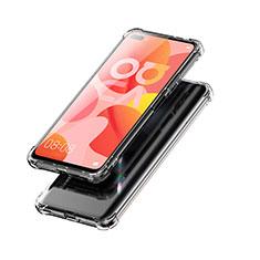 Huawei Nova 6 5G用極薄ソフトケース シリコンケース 耐衝撃 全面保護 クリア透明 T03 ファーウェイ クリア