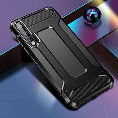 Huawei Nova 6 5G用ハイブリットバンパーケース プラスチック 兼シリコーン カバー ファーウェイ ブラック