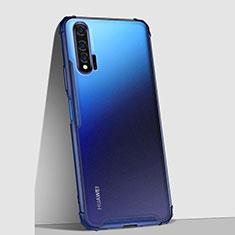 Huawei Nova 6 5G用極薄ケース クリア透明 プラスチック 質感もマットU02 ファーウェイ ネイビー