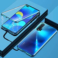 Huawei Nova 6 5G用ケース 高級感 手触り良い アルミメタル 製の金属製 360度 フルカバーバンパー 鏡面 カバー M01 ファーウェイ ネイビー