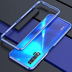 Huawei Nova 6 5G用ケース 高級感 手触り良い アルミメタル 製の金属製 バンパー カバー ファーウェイ ネイビー