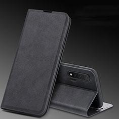 Huawei Nova 6 5G用手帳型 レザーケース スタンド カバー L03 ファーウェイ ブラック