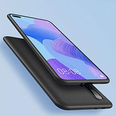 Huawei Nova 6 5G用極薄ソフトケース シリコンケース 耐衝撃 全面保護 ファーウェイ ブラック