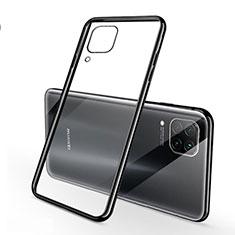 Huawei Nova 6 SE用極薄ソフトケース シリコンケース 耐衝撃 全面保護 クリア透明 S02 ファーウェイ ブラック