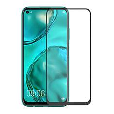 Huawei Nova 6 SE用強化ガラス フル液晶保護フィルム F06 ファーウェイ ブラック