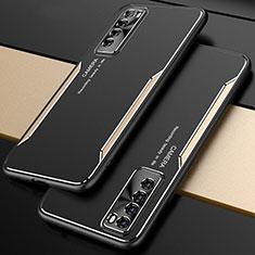 Huawei Nova 7 5G用ケース 高級感 手触り良い アルミメタル 製の金属製 カバー M01 ファーウェイ ゴールド