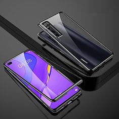 Huawei Nova 7 Pro 5G用ケース 高級感 手触り良い アルミメタル 製の金属製 360度 フルカバーバンパー 鏡面 カバー M01 ファーウェイ ブラック