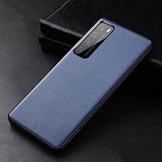 Huawei Nova 7 Pro 5G用ケース 高級感 手触り良いレザー柄 S01 ファーウェイ ネイビー