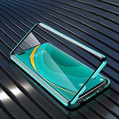 Huawei Nova 7 Pro 5G用ケース 高級感 手触り良い アルミメタル 製の金属製 360度 フルカバーバンパー 鏡面 カバー M04 ファーウェイ グリーン