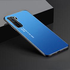 Huawei Nova 7 SE 5G用ケース 高級感 手触り良い アルミメタル 製の金属製 カバー ファーウェイ ネイビー