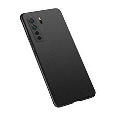 Huawei Nova 7 SE 5G用ハードケース プラスチック 質感もマット カバー M02 ファーウェイ ブラック