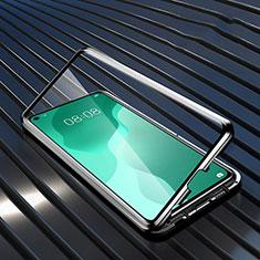 Huawei Nova 7 SE 5G用ケース 高級感 手触り良い アルミメタル 製の金属製 360度 フルカバーバンパー 鏡面 カバー M05 ファーウェイ ブラック