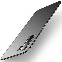 Huawei Nova 7 SE 5G用ハードケース プラスチック 質感もマット カバー M01 ファーウェイ ブラック