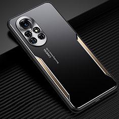 Huawei Nova 8 5G用ケース 高級感 手触り良い アルミメタル 製の金属製 カバー ファーウェイ ゴールド