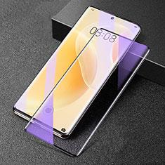 Huawei Nova 8 5G用強化ガラス フル液晶保護フィルム アンチグレア ブルーライト F02 ファーウェイ ブラック