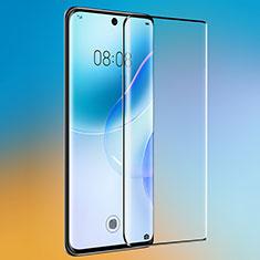 Huawei Nova 8 5G用強化ガラス フル液晶保護フィルム F04 ファーウェイ ブラック