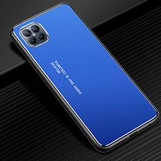 Huawei Nova 8 SE 5G用ケース 高級感 手触り良い アルミメタル 製の金属製 カバー ファーウェイ ネイビー
