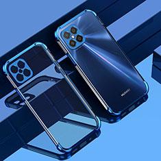 Huawei Nova 8 SE 5G用極薄ソフトケース シリコンケース 耐衝撃 全面保護 クリア透明 H04 ファーウェイ ネイビー