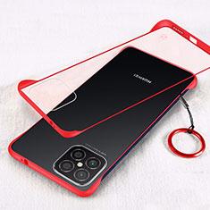 Huawei Nova 8 SE 5G用ハードカバー クリスタル クリア透明 H01 ファーウェイ レッド