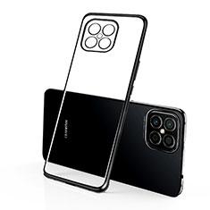 Huawei Nova 8 SE 5G用極薄ソフトケース シリコンケース 耐衝撃 全面保護 クリア透明 H01 ファーウェイ ブラック