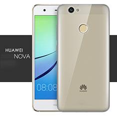 Huawei Nova用極薄ソフトケース シリコンケース 耐衝撃 全面保護 クリア透明 T05 ファーウェイ グレー